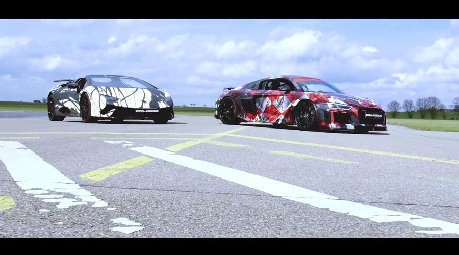 Imagefilm: ABT R8 Art Car vs. Lamborghini Huracan Performante Spyder