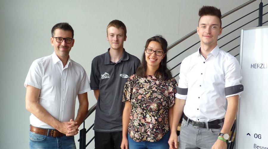 Ausbildungsbeginn für 3 neue Kollegen
