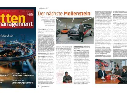 """""""Der nächste Meilenstein"""" - Flottenmanagement 2/2018"""