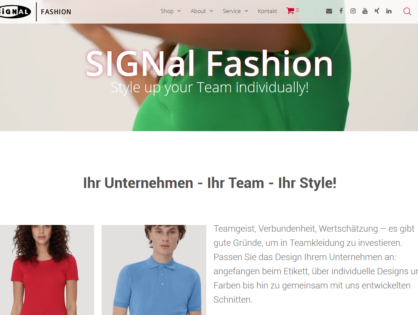 SIGNal Fashion – Style Up Your Team Individually
