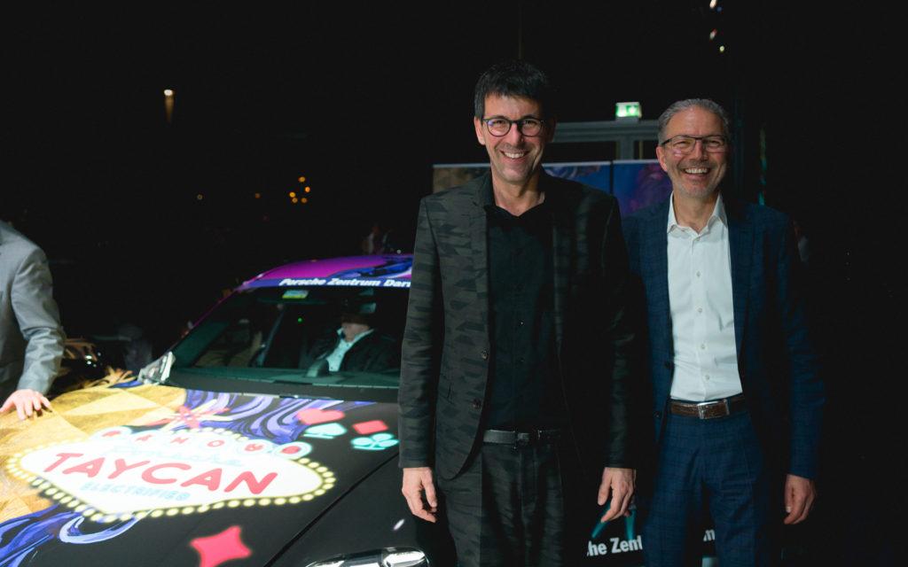 Markus Schaeffler (SIGNal Design) und Wolfang Schaller (PORSCHE Zentrum Darmstadt)