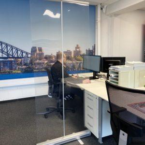 Trennwand Büro