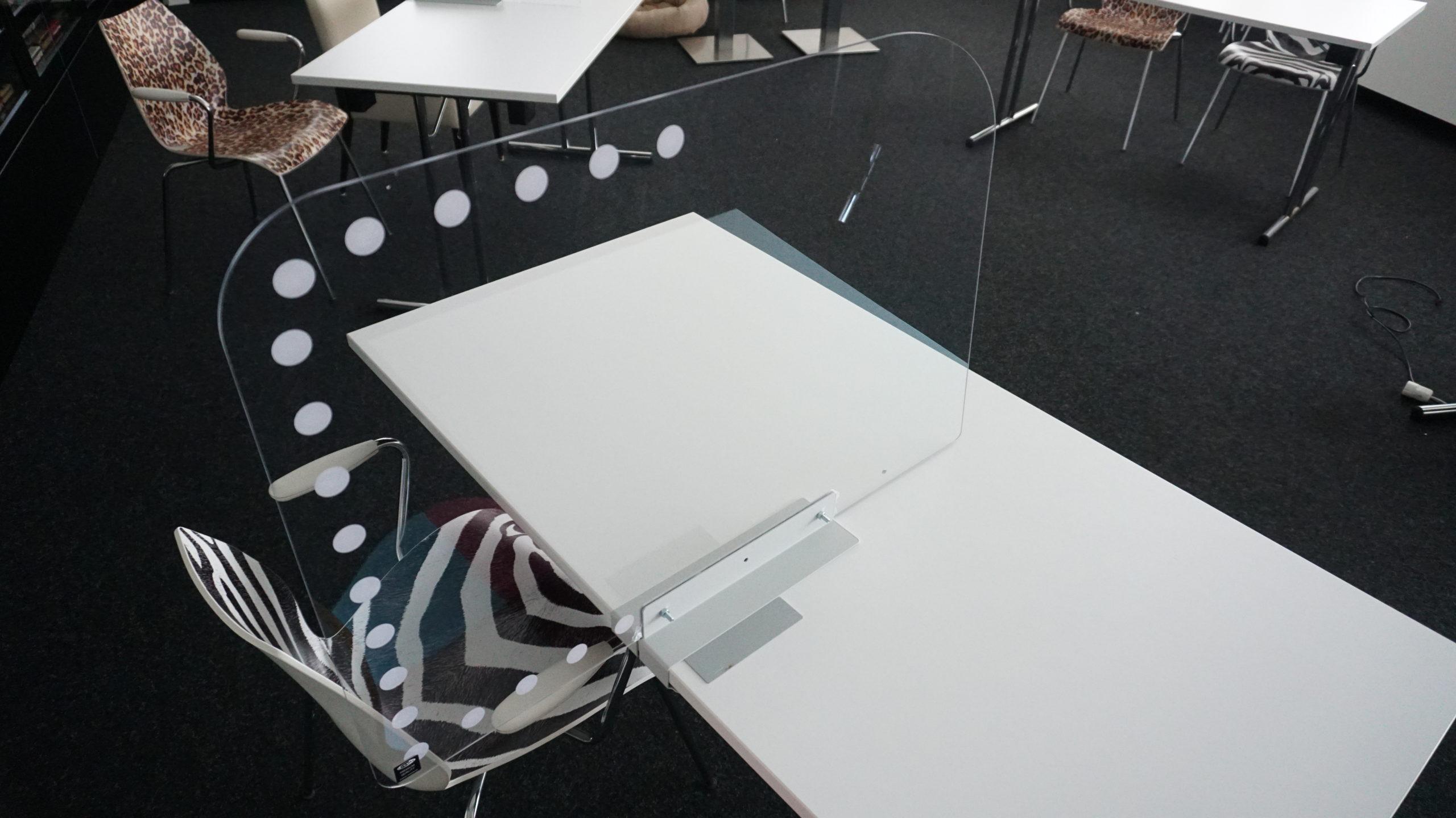 Klemmhalter Hygienewand Trennwand Tischplatte Halter Plexiglas Acrylglas