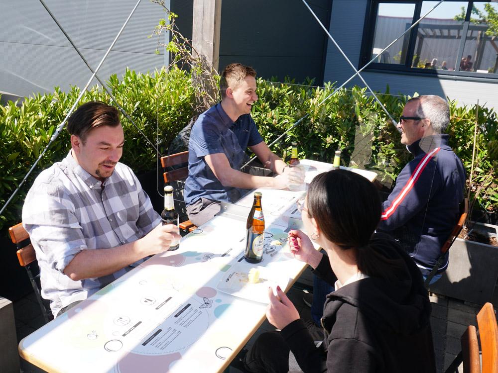 Trotz Corona Biergarten genießen
