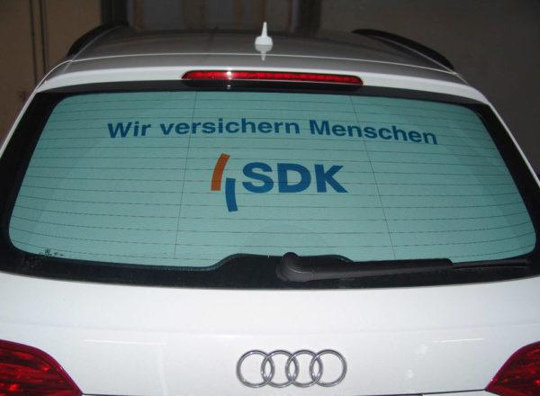 Werbescheibe für das Auto