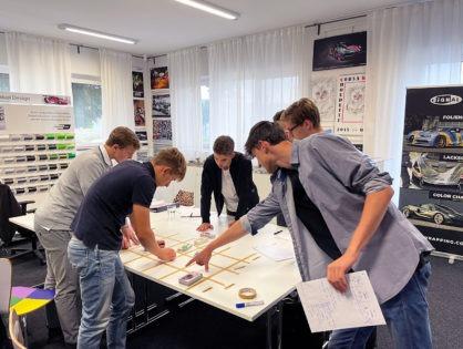 Folien Workshop: erste Schulung der neuen Azubis