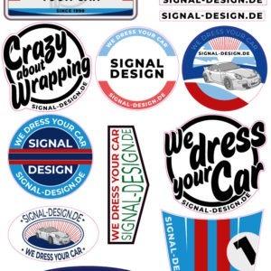 Signal sticker we dress your car